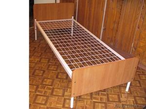 кровати для пансионатов и армий, одноярусные и двухъярусные металлические оптом - Изображение #5, Объявление #695536
