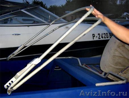Дуги для тента на лодку из раскладушки