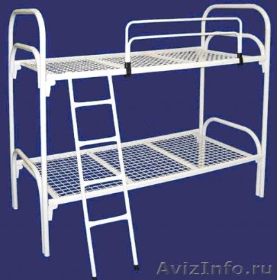 кровати для пансионатов и армий, одноярусные и двухъярусные металлические оптом, Объявление #695536